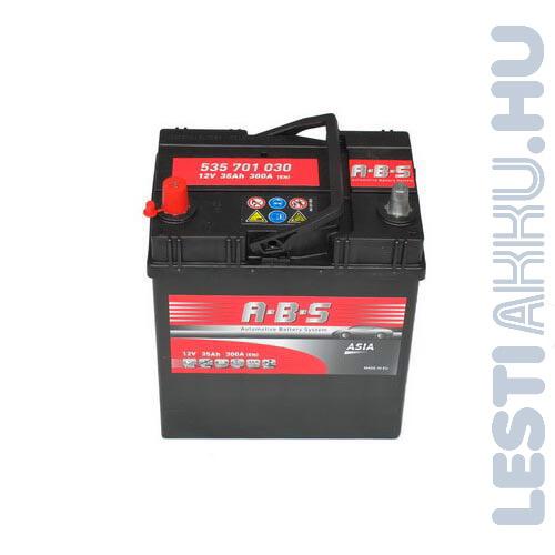 ABS ASIA Autó Akkumulátor 12V 35Ah 300A Japán Bal+ (535701030)