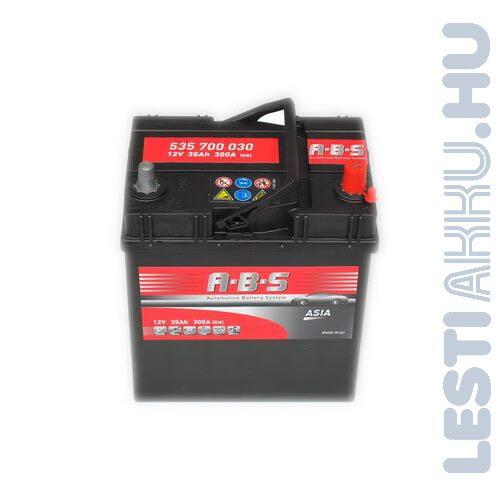 ABS ASIA Autó Akkumulátor 12V 35Ah 300A Japán Jobb+ (535700030)
