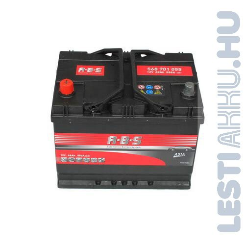 ABS ASIA Autó Akkumulátor 12V 68Ah 550A Japán Bal+ (568701055)