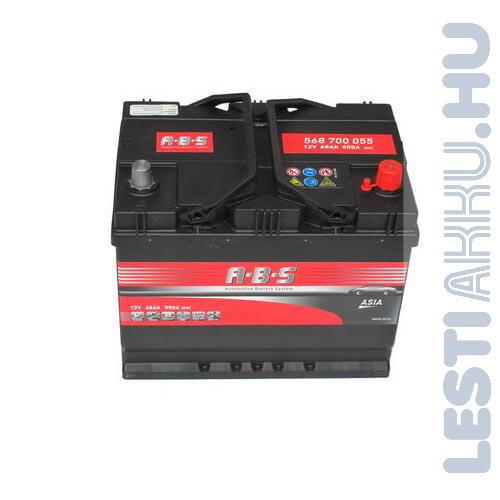 ABS ASIA Autó Akkumulátor 12V 68Ah 550A Japán Jobb+ (568700055)