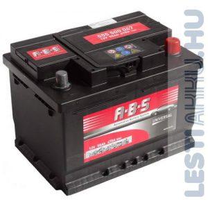ABS Universal Autó Akkumulátor 12V 55Ah 440A Jobb+