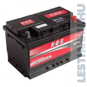ABS Universal Autó Akkumulátor 12V 72Ah 640A Jobb+