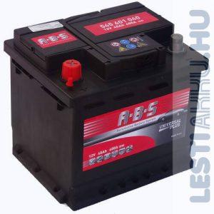 ABS Universal Plus Autó Akkumulátor 12V 45Ah 400A Bal+