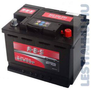 ABS Universal Plus Autó Akkumulátor 12V 60Ah 540A Jobb+