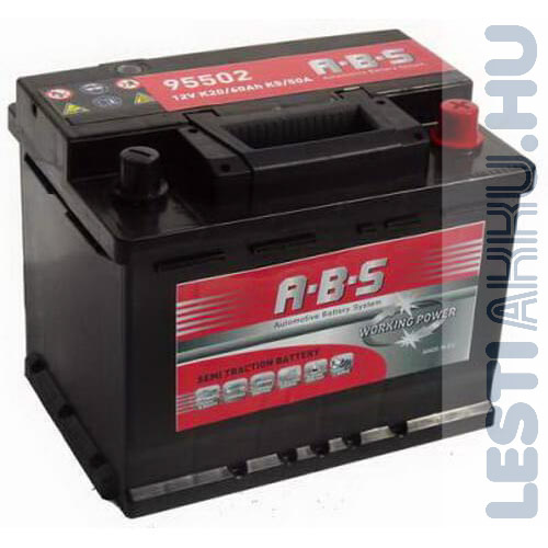 ABS Working Power munka akkumulátor 12V 60Ah Jobb+