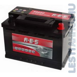 ABS Working Power munka akkumulátor 12V 75Ah Jobb+