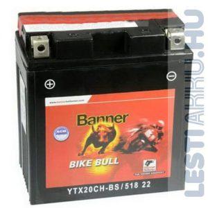 Banner Bike Bull AGM Motor Akkumulátor YTX20CH-BS 12V 18Ah 220A Bal+ (51822)