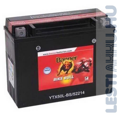 Banner Bike Bull AGM Motor Akkumulátor YTX50L-BS 12V 22Ah 300A Jobb+ (52214)