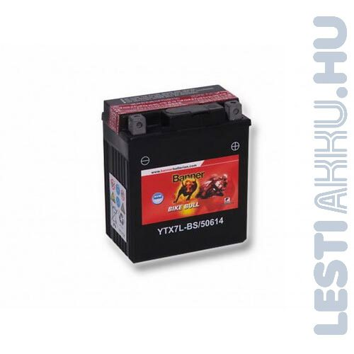 Banner Bike Bull AGM Motor Akkumulátor YTX7L-BS 12V 6Ah 85A Jobb+ (50614)