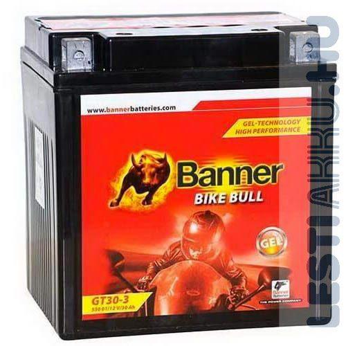 Banner Bike Bull GÉL Motor Akkumulátor GT30-3 12V 30Ah 390A Jobb+ (53001)