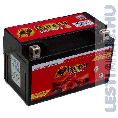 Banner Bike Bull GÉL Motor Akkumulátor GTZ10-4 (YTZ10S) 12V 9Ah 180A Bal+ (50901)