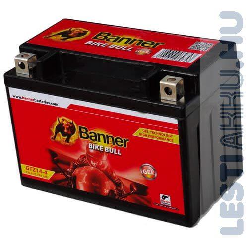 Banner Bike Bull GÉL Motor Akkumulátor GTZ14-4 (YTZ14S) 12V 11Ah 190A Bal+ (51101)