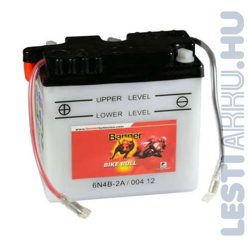 Banner Bike Bull Motor Akkumulátor 6N4B-2A 6V 4Ah Bal+ (00412)