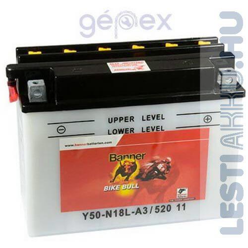 Banner Bike Bull Motor Akkumulátor Y50-N18L-A3 12V 20Ah Jobb+ (52011)