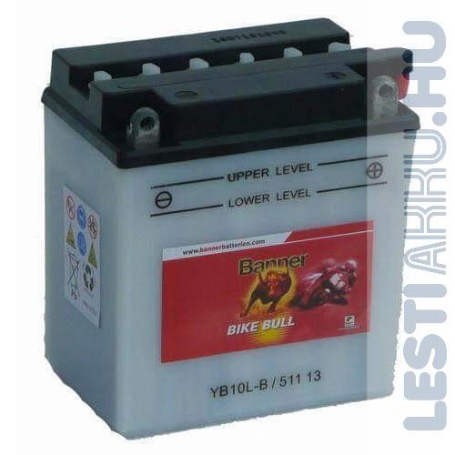 Banner Bike Bull Motor Akkumulátor YB10L-B 12V 11Ah 160A Jobb+ (51113)