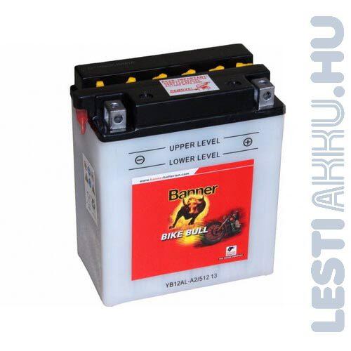 Banner Bike Bull Motor Akkumulátor YB12AL-A2 12V 12Ah 170A Jobb+ (51213)