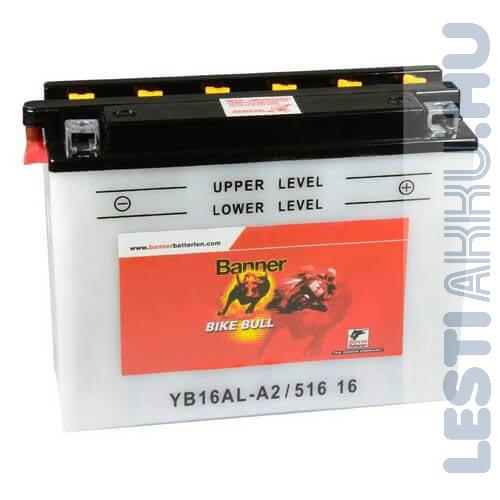 Banner Bike Bull Motor Akkumulátor YB16AL-A2 12V 16Ah Jobb+ (51616)