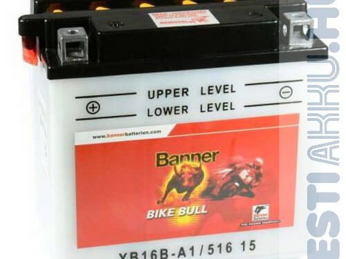 Banner Bike Bull Motor Akkumulátor YB16B-A1 12V 16Ah Bal+ (51615)