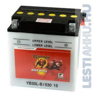 Banner Bike Bull Motor Akkumulátor YB30L-B 12V 30Ah Jobb+ (53015)