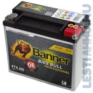 Banner Bike Bull Professional AGM Motor Akkumulátor ETX20L 12V 18Ah 310A Jobb+ (52001)