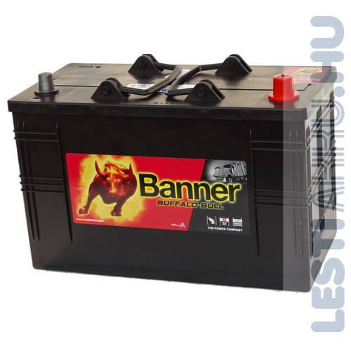 Banner Buffalo Bull Teherautó Akkumulátor 12V 110Ah 720A IVECO Talpas Jobb+ (61011)