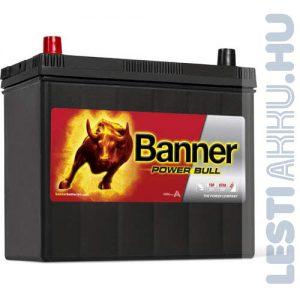 Banner Power Bull Autó Akkumulátor 12V 45Ah 390A Japán Bal+ (P4524)