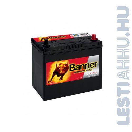 Banner Power Bull Autó Akkumulátor 12V 45Ah 390A Japán Jobb+ (P4523)