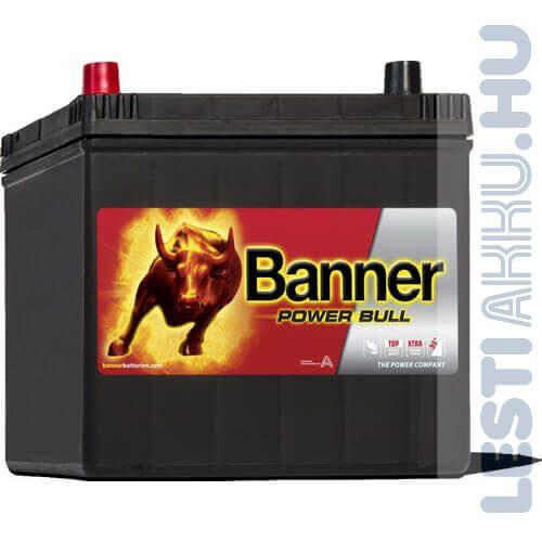 Banner Power Bull Autó Akkumulátor 12V 60Ah 510A Japán Bal+ (P6069)