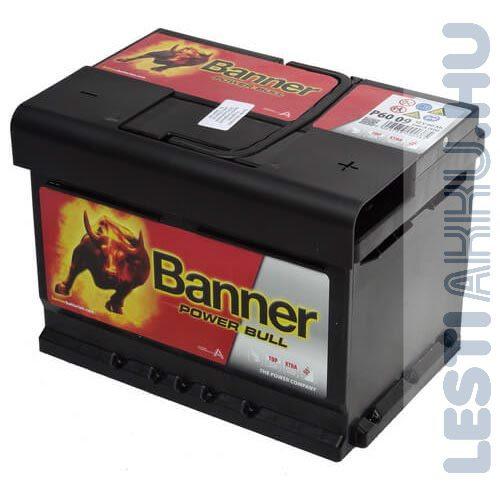 Banner Power Bull Autó Akkumulátor 12V 60Ah 540A Jobb+ (P6009)