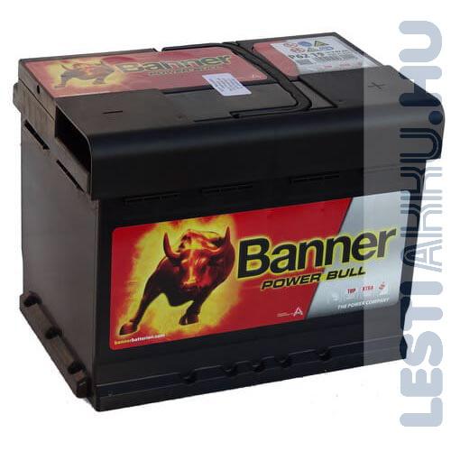 Banner Power Bull Autó Akkumulátor 12V 62Ah 550A Jobb+ (P6219)