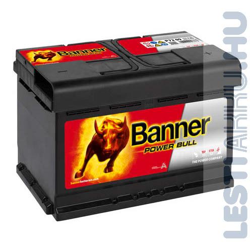 Banner Power Bull Autó Akkumulátor 12V 72Ah 660A Jobb+ (P7209)