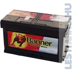 Banner Power Bull Autó Akkumulátor 12V 80Ah 700A Jobb+ (P8014)