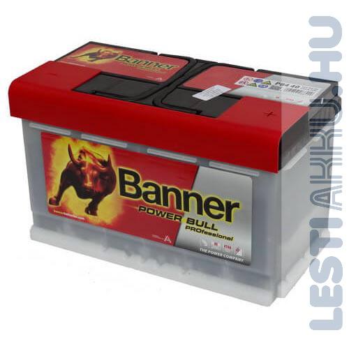 Banner Power Bull PROFESSIONAL Autó Akkumulátor 12 V 84Ah 720A Jobb+ (PRO P8440)
