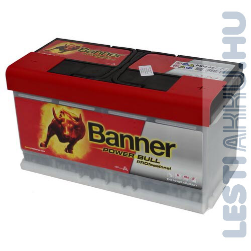 Banner Power Bull PROFESSIONAL Autó Akkumulátor 12V 100Ah 820A Jobb+ (PRO P10040)