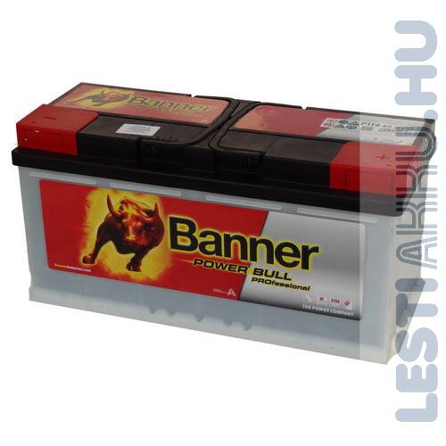 Banner Power Bull PROFESSIONAL Autó Akkumulátor 12V 110Ah 850A Jobb+ (PRO P11040)