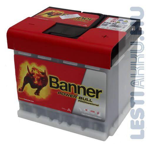 Banner Power Bull PROFESSIONAL Autó Akkumulátor 12V 50Ah 420A Jobb+ (PRO P5040)
