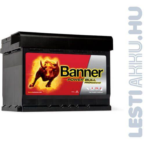 Banner Power Bull PROFESSIONAL Autó Akkumulátor 12V 63Ah 600A Jobb+ (PRO P6342)