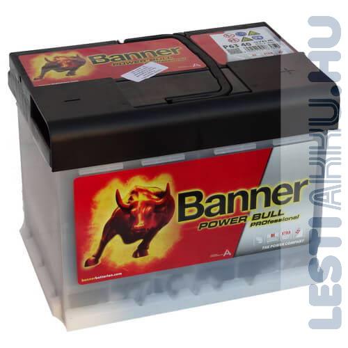 Banner Power Bull PROFESSIONAL Autó Akkumulátor 12V 63Ah 620A Jobb+ (PRO P6340)