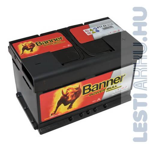Banner Power Bull PROFESSIONAL Autó Akkumulátor 12V 77Ah 680A Jobb+ (PRO P7742)