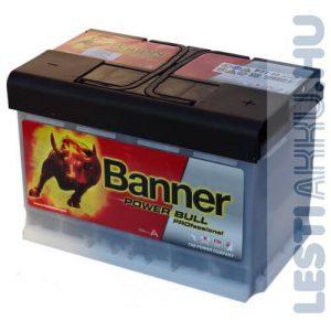 Banner Power Bull PROFESSIONAL Autó Akkumulátor 12V 77Ah 700A Jobb+ (PRO P7740)