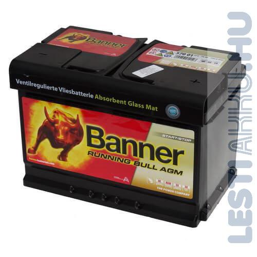 Banner Running Bull Akkumulátor AGM 12V 70Ah 720A Jobb+ (57001)