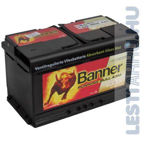 Banner Running Bull Akkumulátor AGM 12V 80Ah 800A Jobb+ (58001)