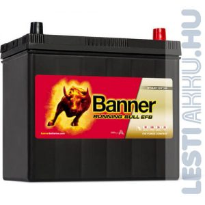Banner Running Bull Autó Akkumulátor EFB 12V 55Ah 460A Japán Jobb+ (55515)