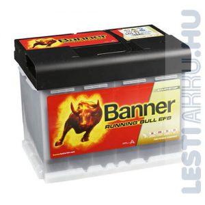 Banner Running Bull Autó Akkumulátor EFB 12V 65Ah 640A Jobb+ (56511)
