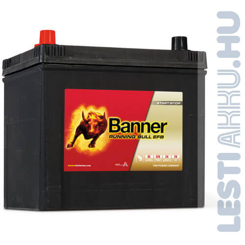 Banner Running Bull Autó Akkumulátor EFB 12V 65Ah 550A Japán Bal+ (56516)