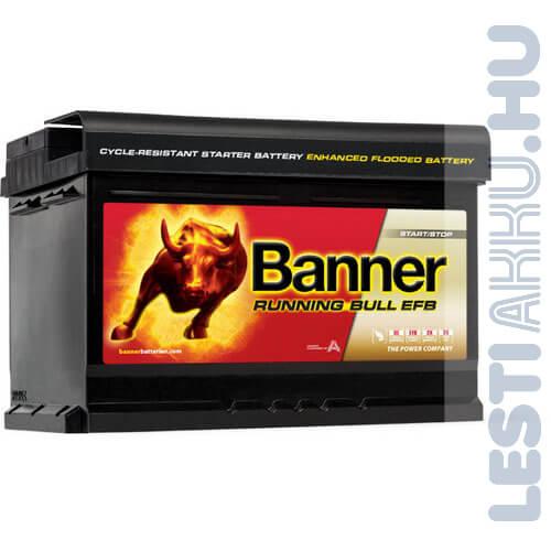 Banner Running Bull Autó Akkumulátor EFB 12V 65Ah 650A Jobb+ (56512)