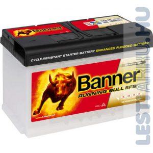 Banner Running Bull Autó Akkumulátor EFB 12V 70Ah 660A Jobb+ (57011)