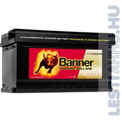 Banner Running Bull Autó Akkumulátor EFB 12V 75Ah 730A Jobb+ (57512)