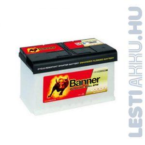 Banner Running Bull Autó Akkumulátor EFB 12V 80Ah 780A Jobb+ (58011)
