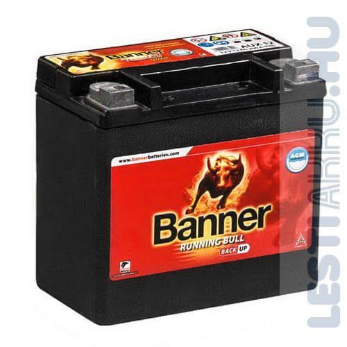 Banner Running Bull Back Up AGM Kiegészítő Akkumulátor 12V 12Ah Bal+ (51400)